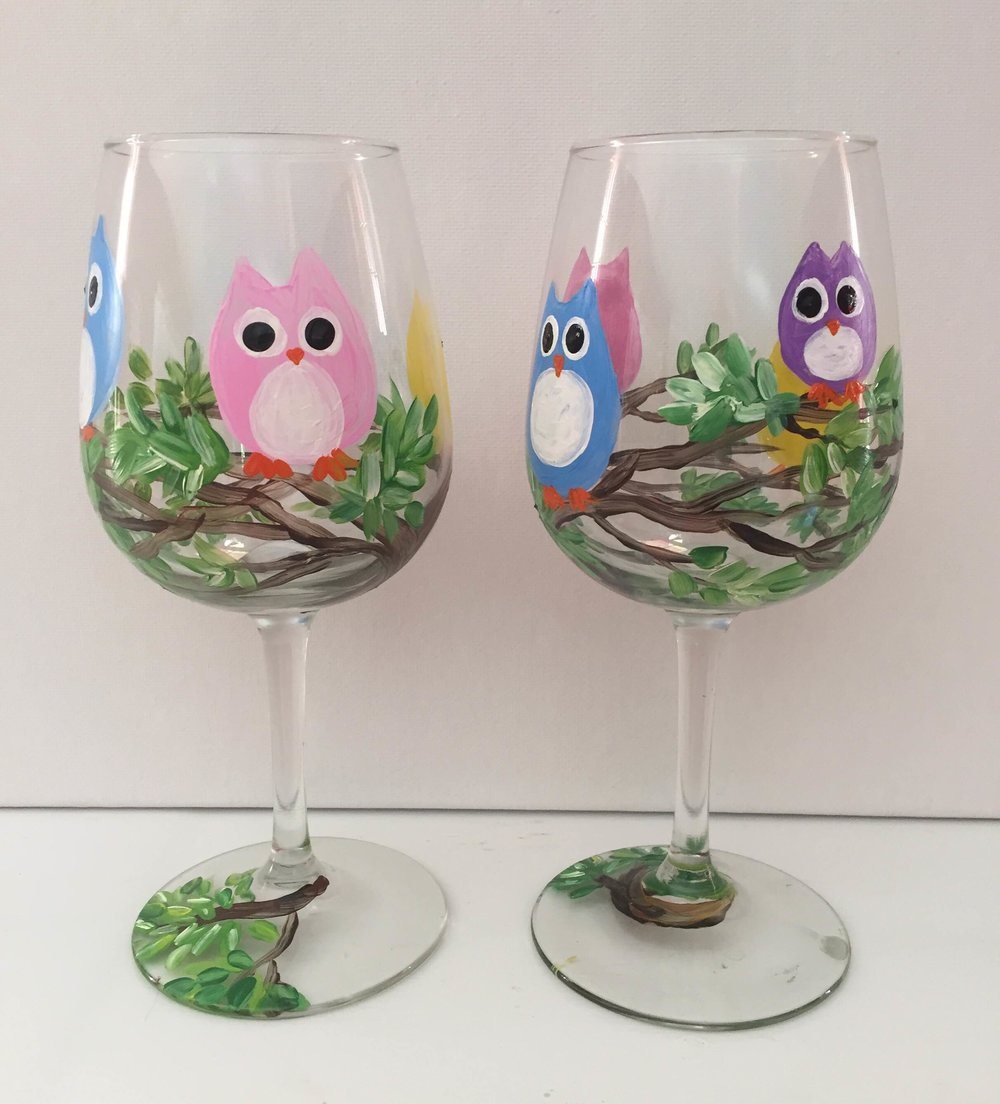 Owl Wine Glasses.JPG