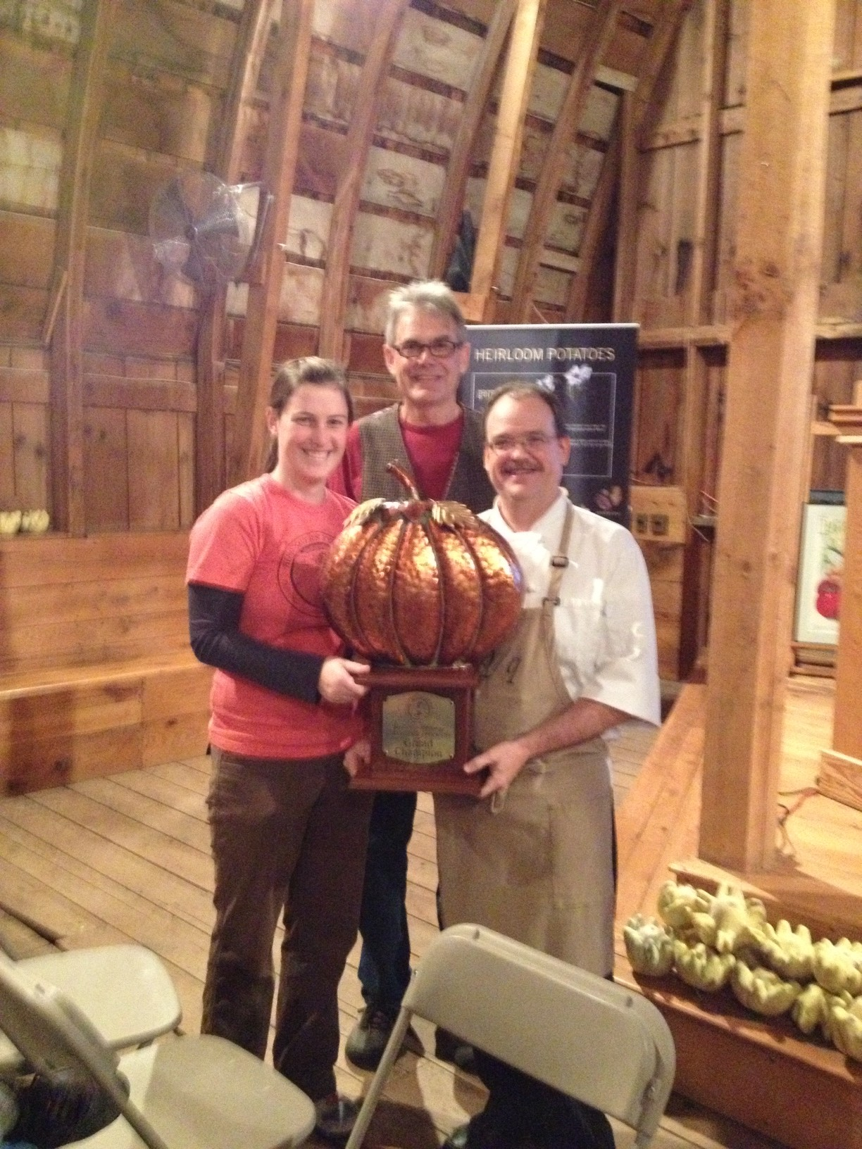 Soup cook-off winner Chef Stephen Larson from Quarter/QUARTER, along with SSE's Shannon Carmody and John Torgrimson