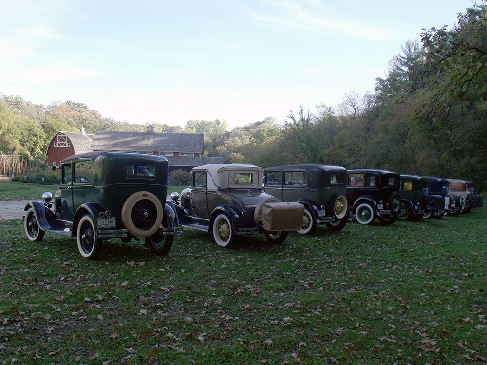 Model A's visiting Seed Savers Exchange