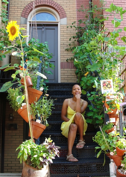Chyann Oliver's stoop in Washington, D.C.