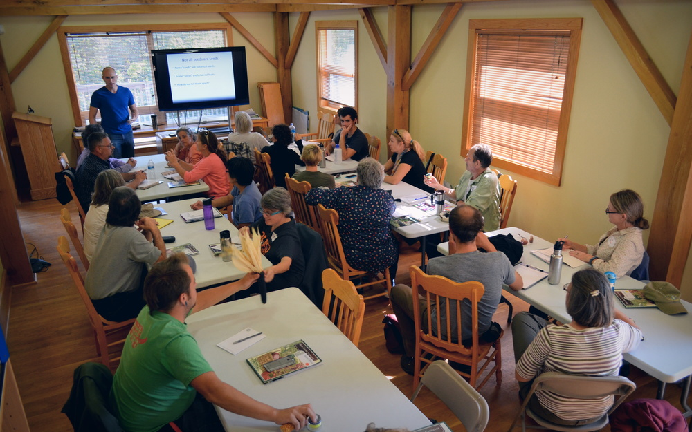 Seed Savers Exchange hosts many workshops on saving seeds throughout the year at Heritage Farm.