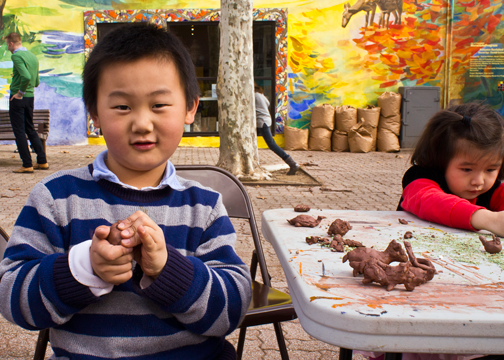 Making seed bombs means Making a mess to clean up the environment. (Photo courtesy of Jeff Quattrone)