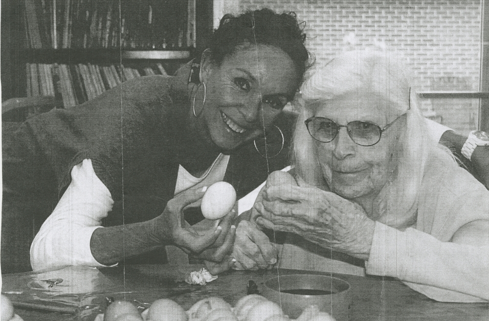 Donor Audrey Kreutzer (right).