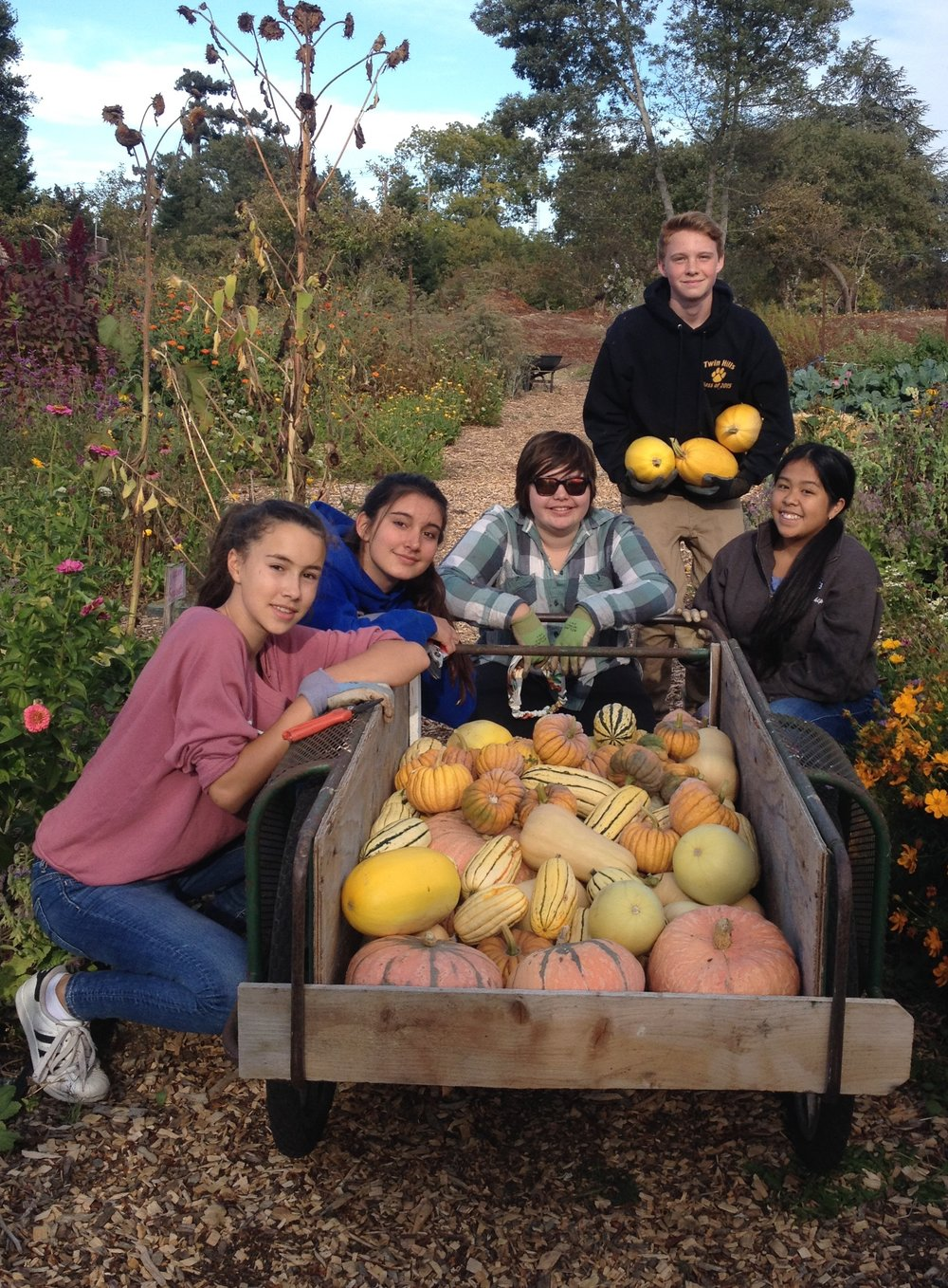 """Every day in the garden I am amazed by the young people I get to work with and REMINDED of how much having a place to engage in helping the community gives to them,"" says Sara M c Camant of her work with the Ceres Community Project."