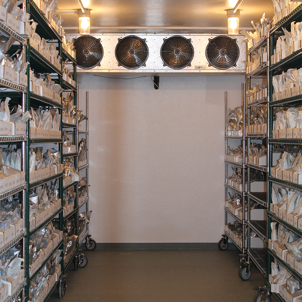 Seeds are stored in a climate-controlled Seed Bank on our farm/headquarters in northeast Iowa.