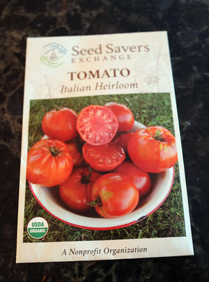The popular 'Italian Heirloom' tomato was my pick for my first indoor seed-starting adventure.
