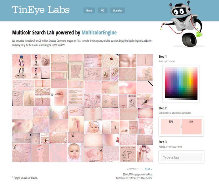 Tineye Labs Multicolr Search Lab concept board image helper - HelloBrio.com