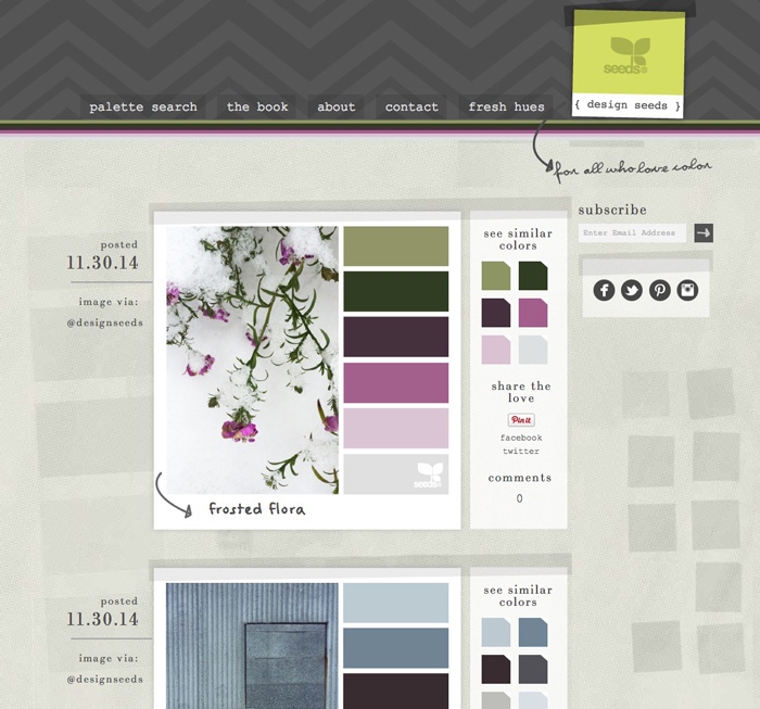 Design Seeds - Straightforward Color Tips for Web and Blog Design on HelloBrio.com