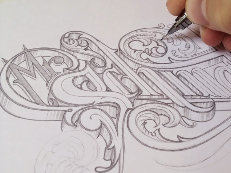 12 Inspiring Hand Lettering Works in Progress - HelloBrio.com