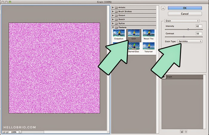 How to create your own glitter in Photoshop - a tutorial on hellobrio.com