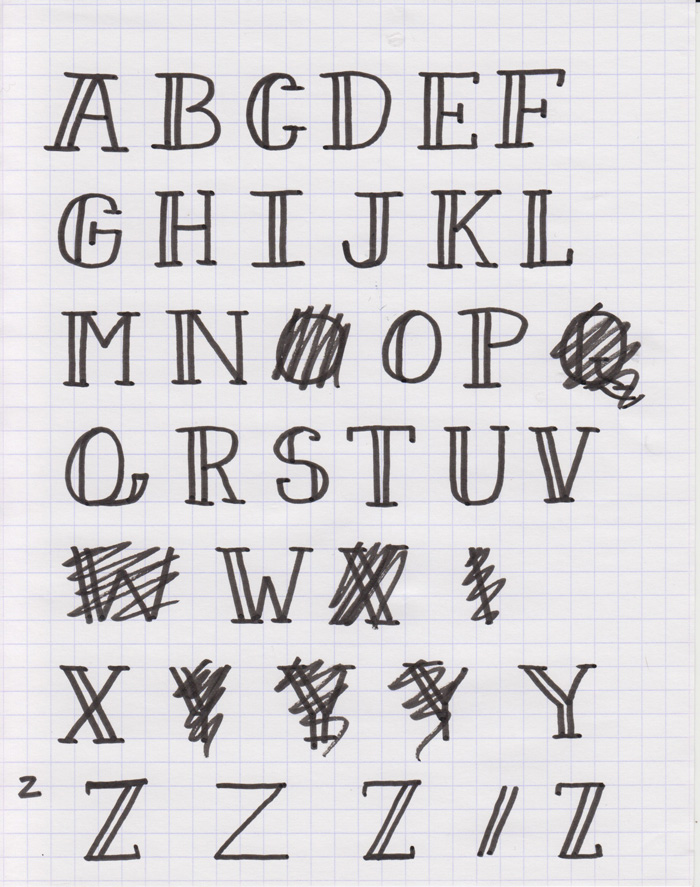 Sketch Each Glyph Of Your Font