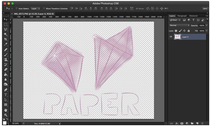 Your images will have a transparent background in Photoshop