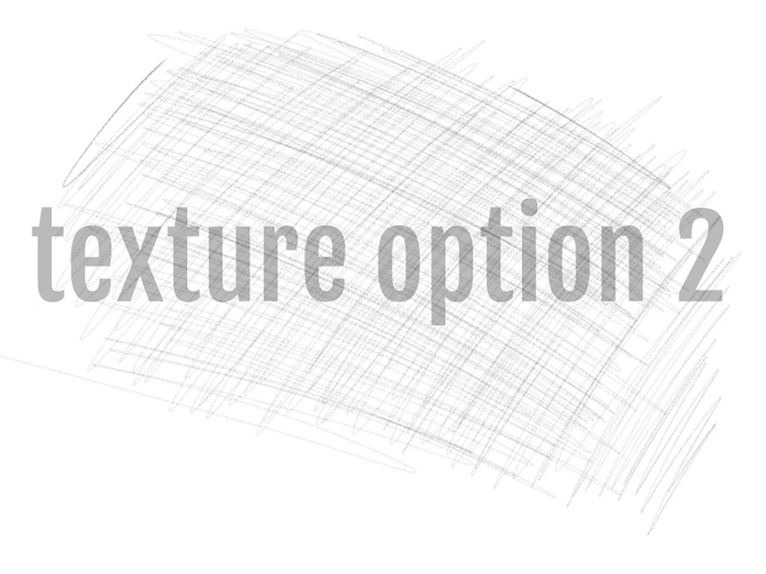 Adding textures to your typography - select your texture options - scribbled pencil texture