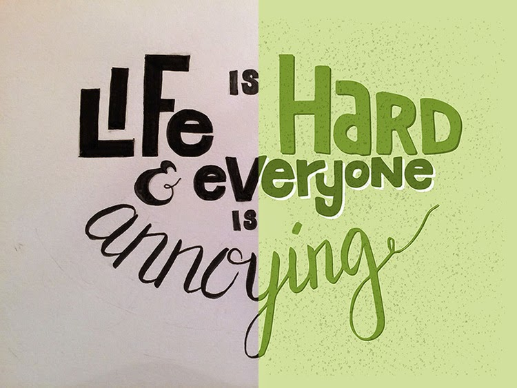 Paper To Digital Hand Lettering Illustrator Before After
