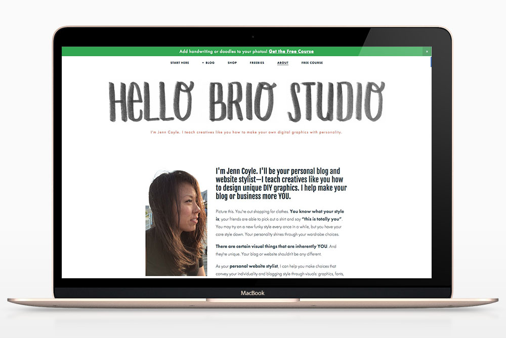 Hello Brio Studio redesign for 2016