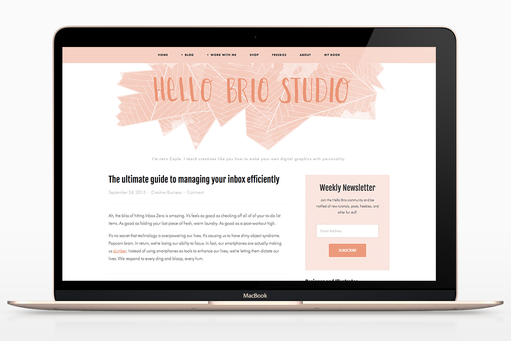 Hello Brio Studio redesign for 2016: Before