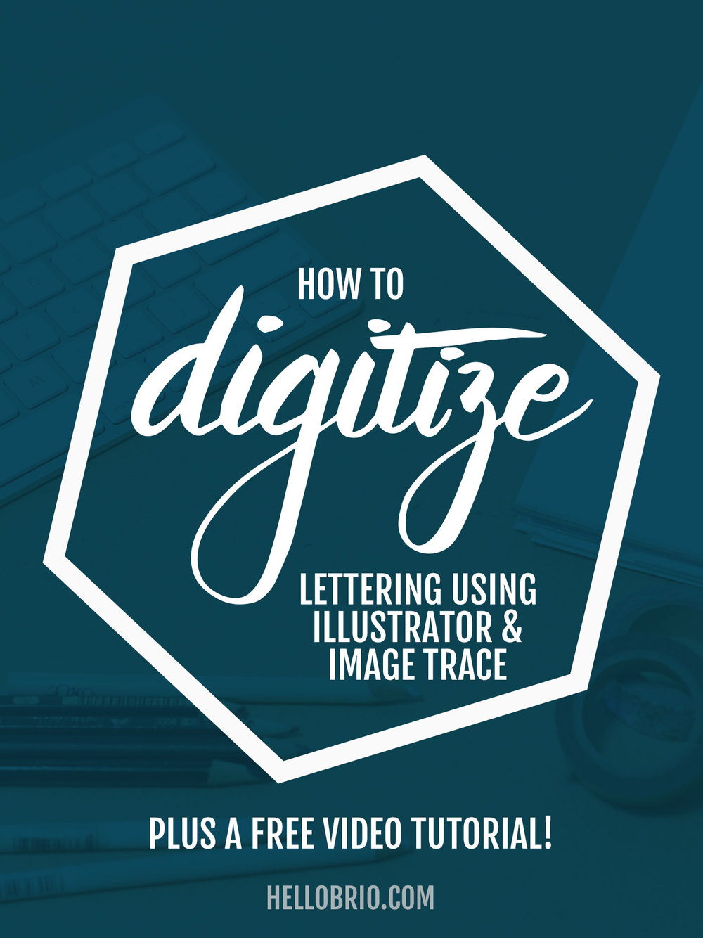 learn how to digitize your hand lettering and calligraphy using illustrator and image trace plus