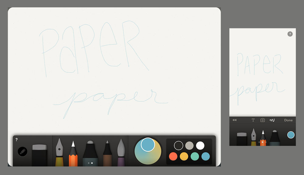 Digital drawing made easy with iPhone or iPad and Paper by FiftyThree
