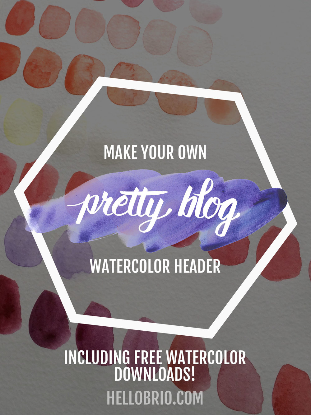 Make your own pretty blog watercolor header