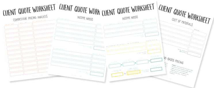 Client Quote Worksheet Preview