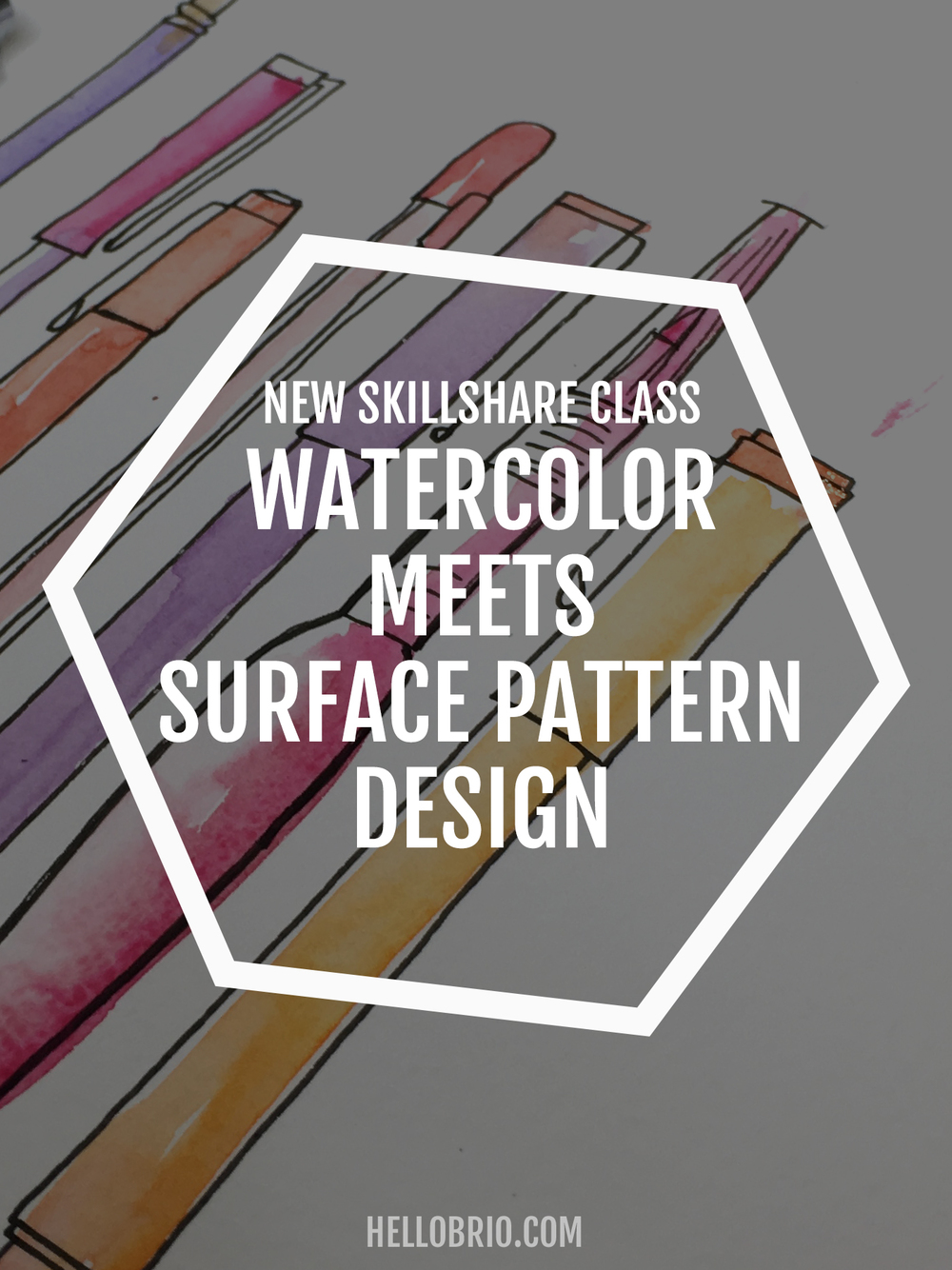 Watercolor Meets Surface Pattern Design