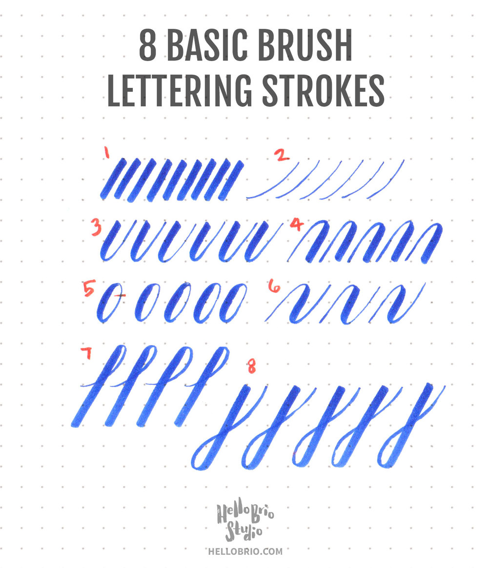 Intro to Brush Lettering: Basic Strokes : Hello Brio Studio