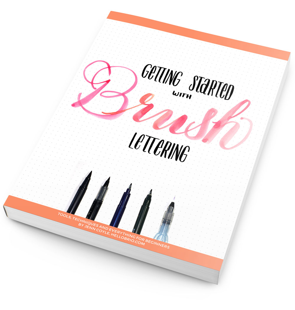 Getting Started with Brush Lettering ebook available on hellobrio.com