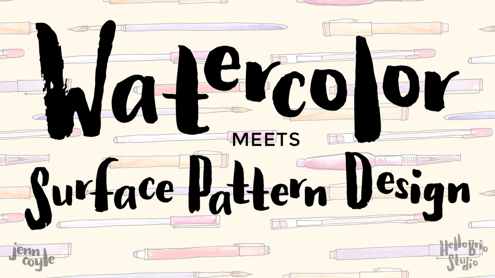 Watercolor Meets Surface Pattern Design - Skillshare class taught by Jenn Coyle, HelloBrio.com