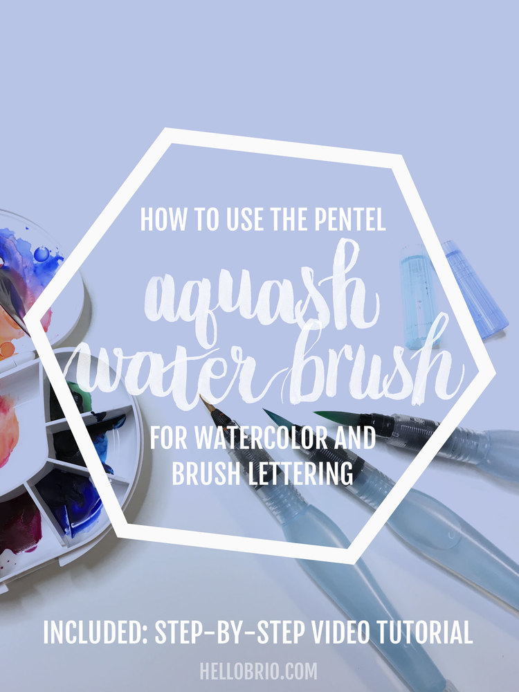Click To Learn How Use The Pentel Aquash Water Brush Pen For Watercolor A