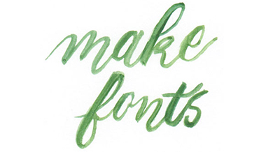 Learn how to create your own hand-drawn font