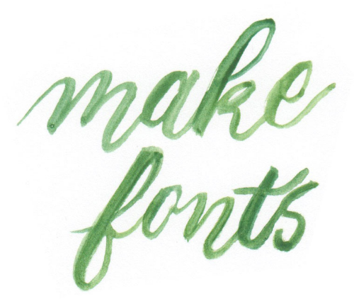 Make your own hand-drawn font
