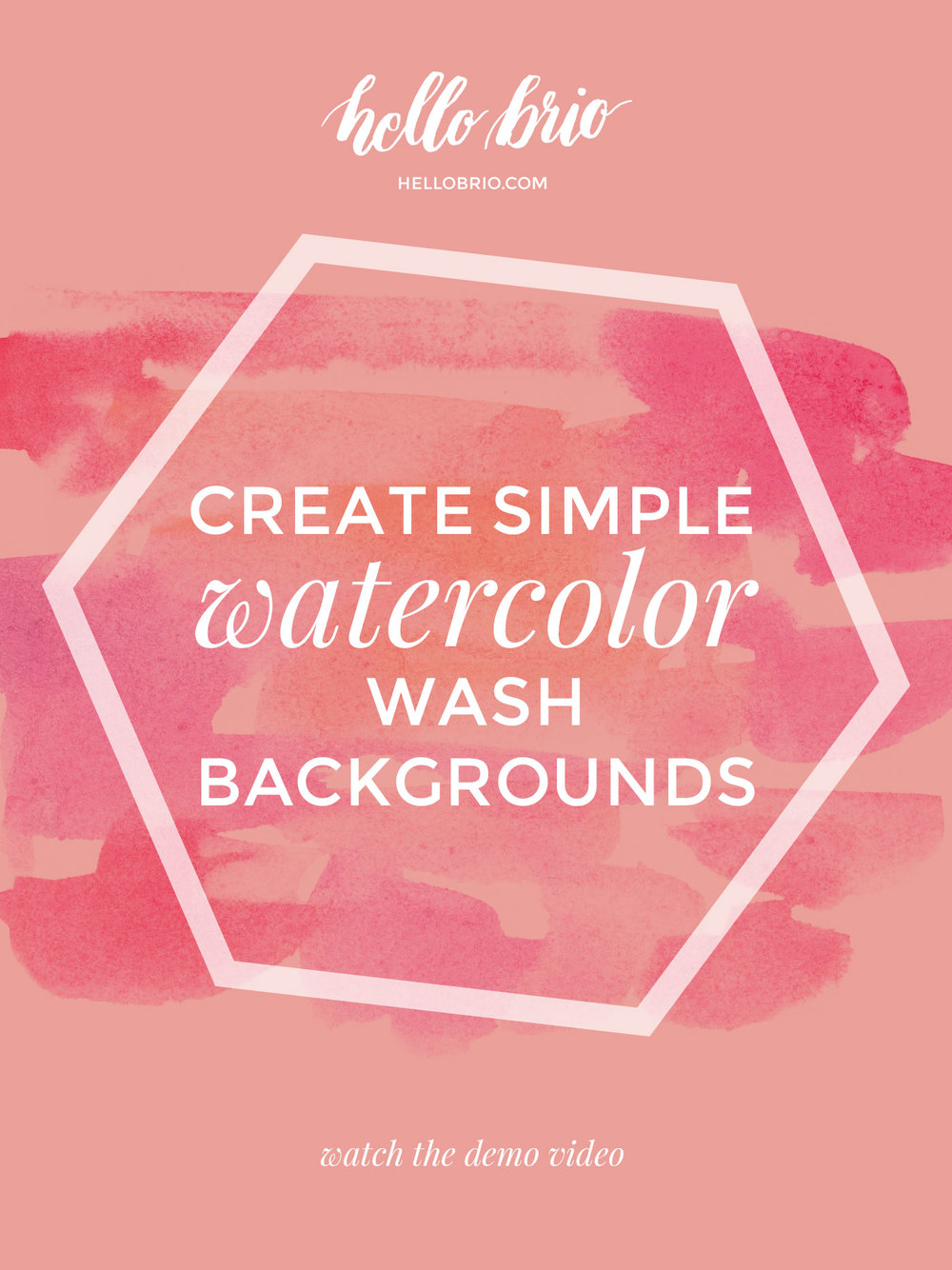 Learn how to create simple watercolor wash backgrounds for your hand lettering projects or to digitize. Video tutorial at hellobrio.com
