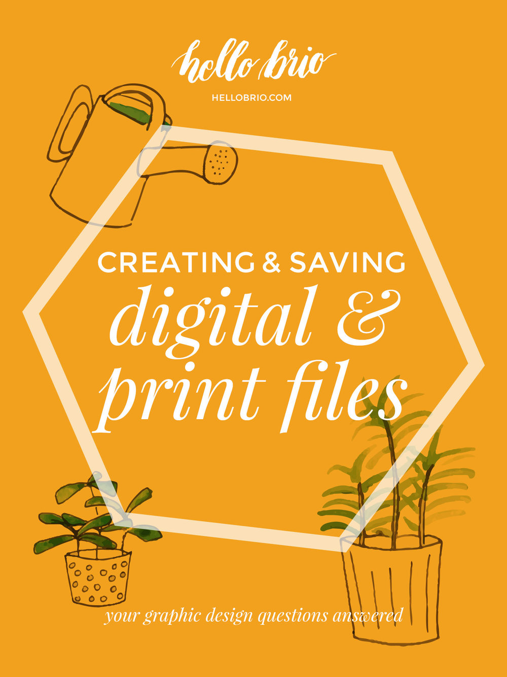 Best practices for creating and saving digital and print files for graphic design