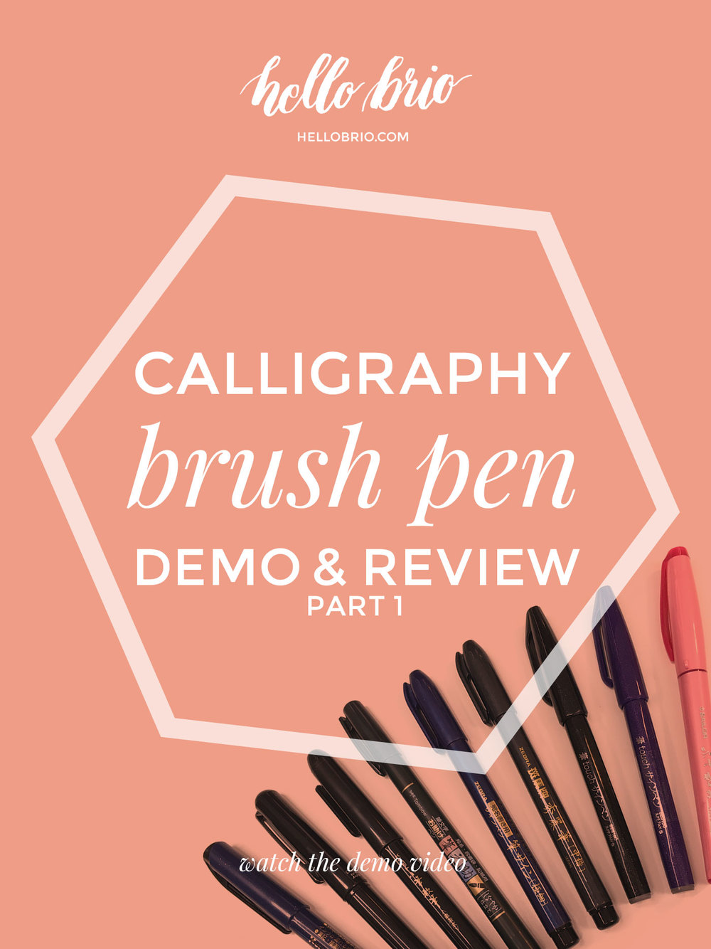 Click to watch a demo of these brush calligraphy pens from JetPens, featuring popular brush pens made especially for brush lettering and illustration.