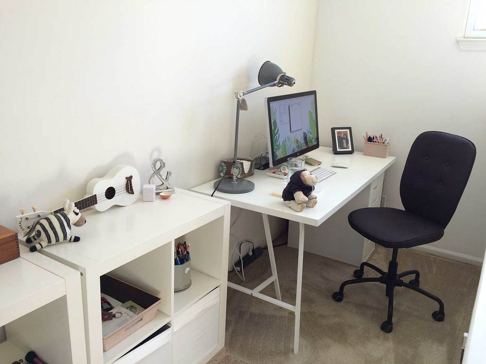 Here's what my office looked like right after we moved in and unpacked a little!