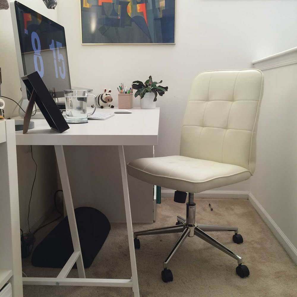 Stupendous Home Office And Desk Tour For An Illustrator Writer Work From Largest Home Design Picture Inspirations Pitcheantrous