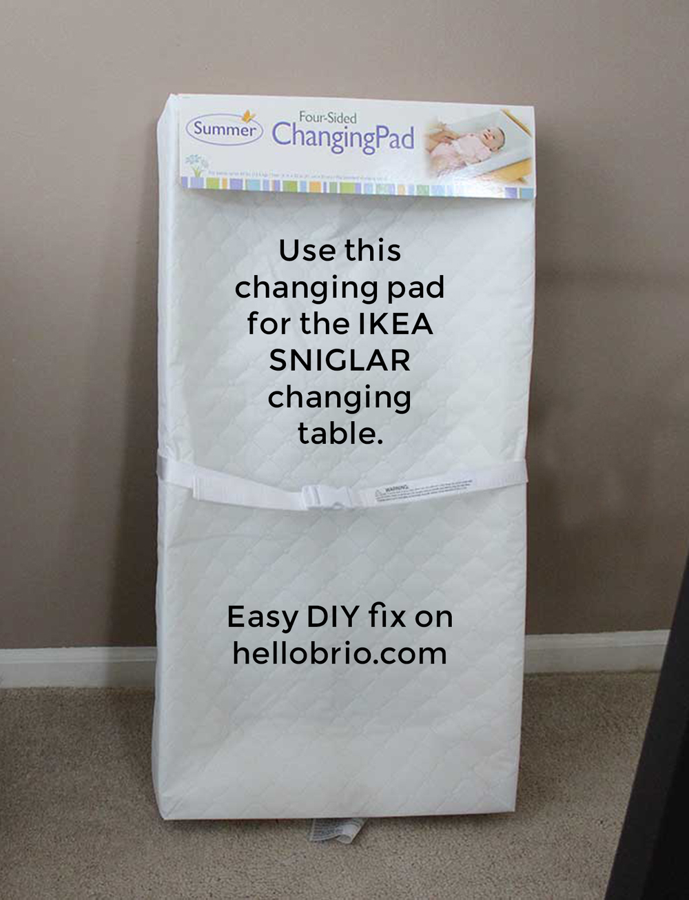 Summer Four-Sided ChangingPad - perfect for a IKEA DIY hack - Easy baby DIY project for a changing table pad for the IKEA SNIGLAR