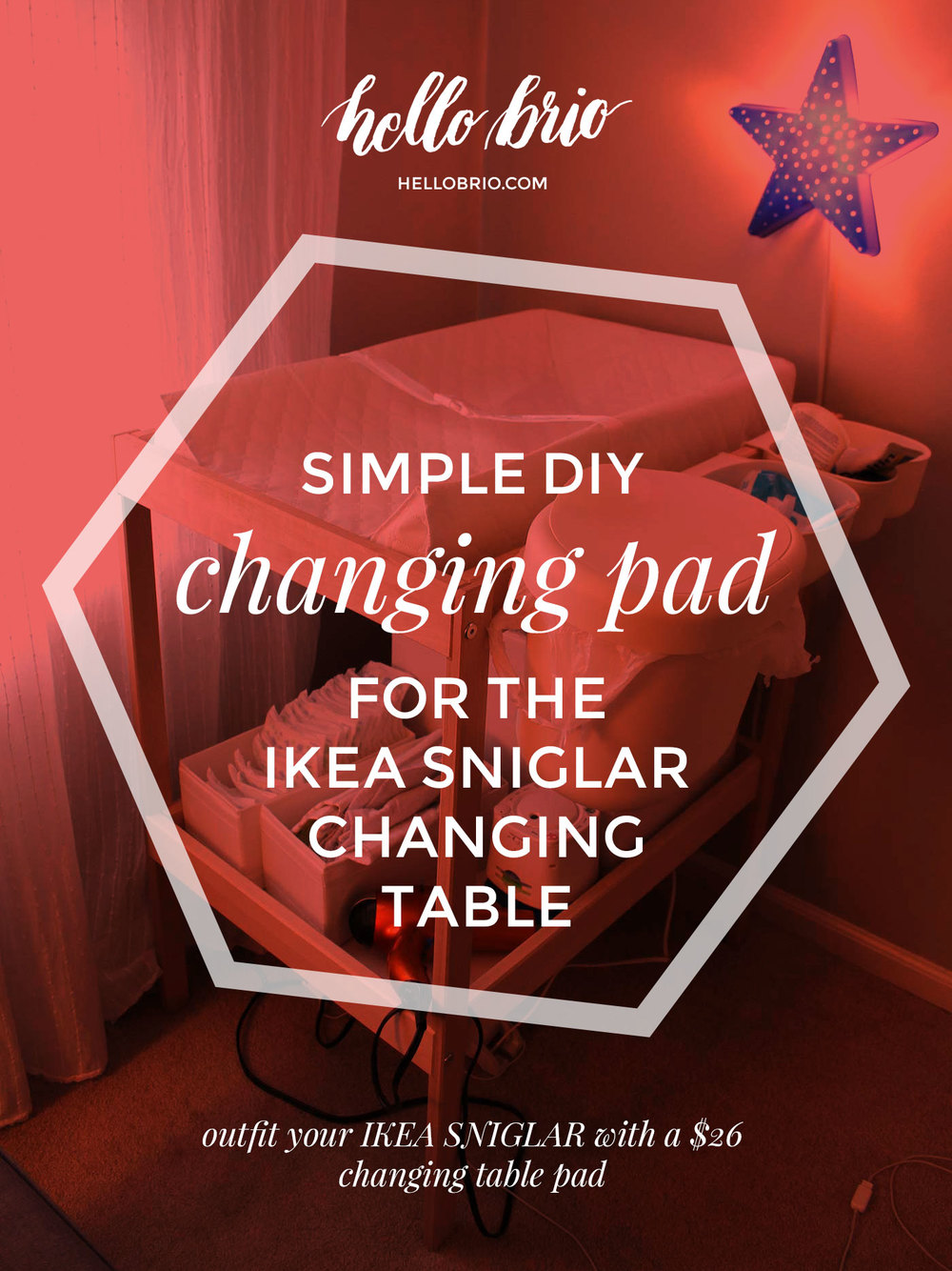 Easy baby DIY project for a changing table pad for the IKEA SNIGLAR