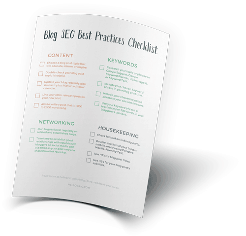 Blog SEO best practices checklist