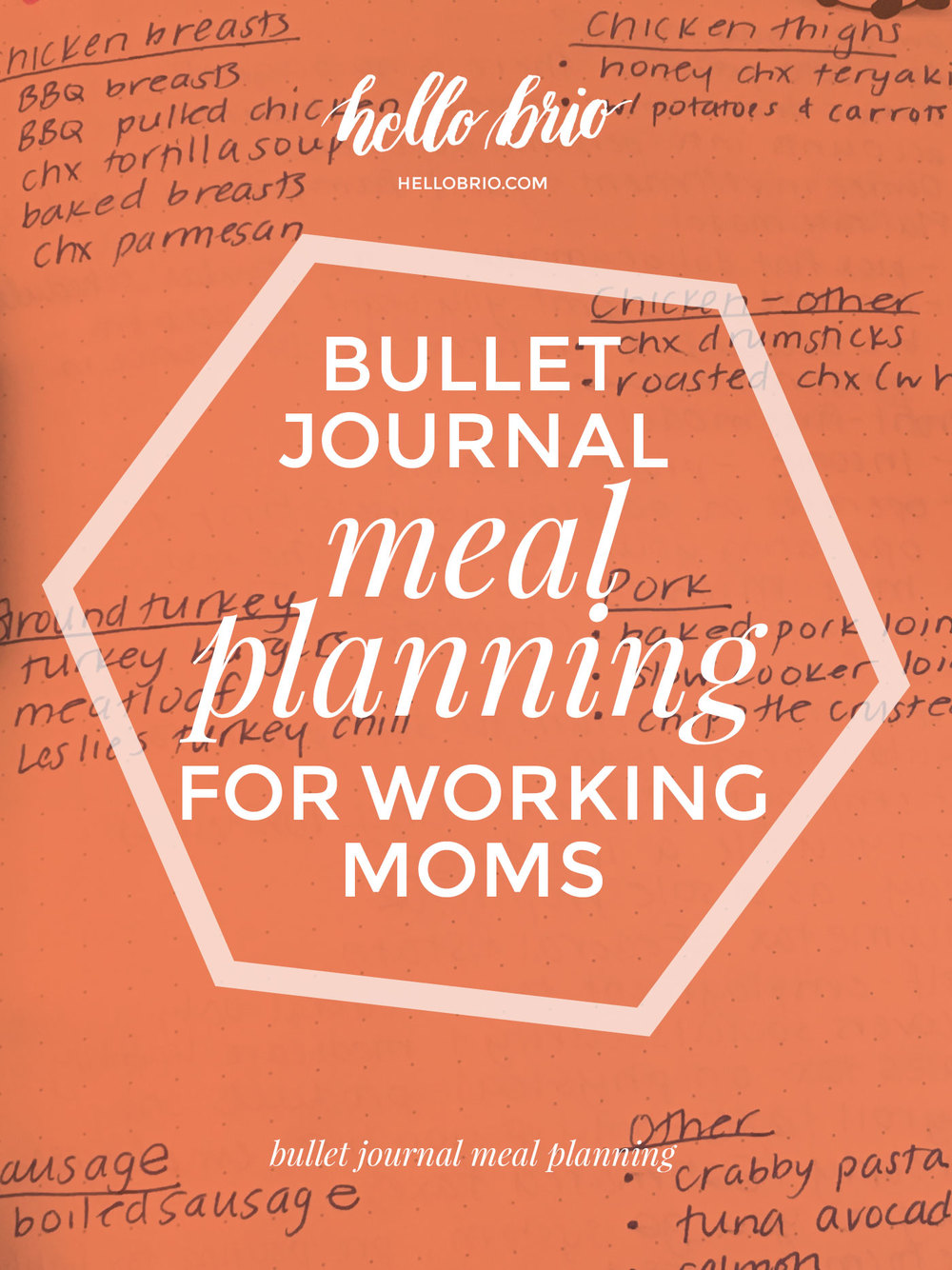 How to meal plan for the week using a bullet journal—for working or work-from-home moms