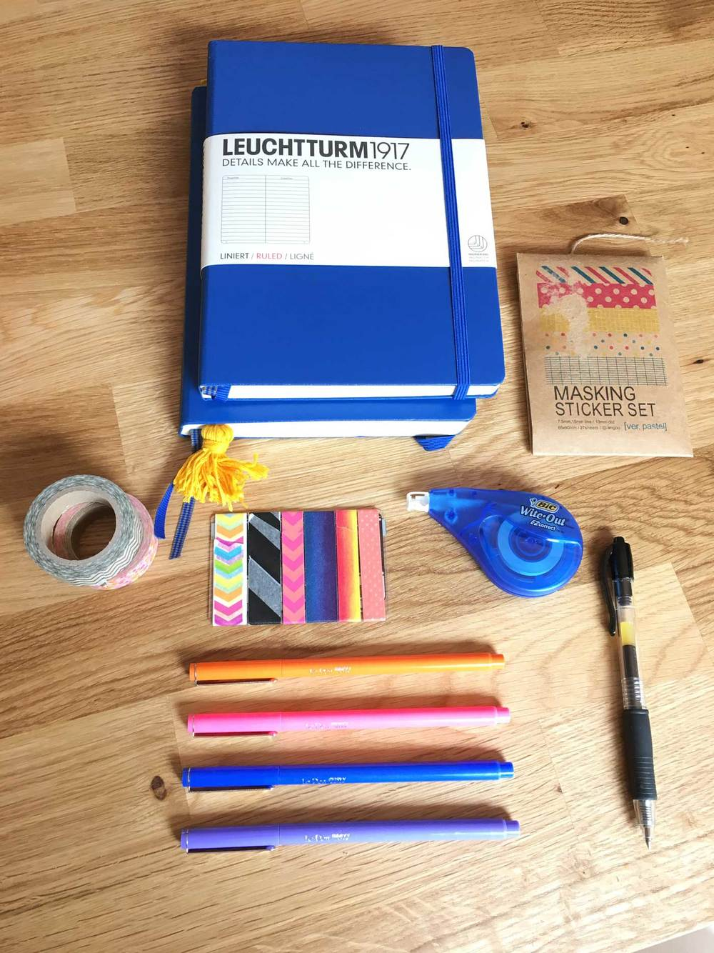 Bullet journal supplies for beginners on hellobrio.com
