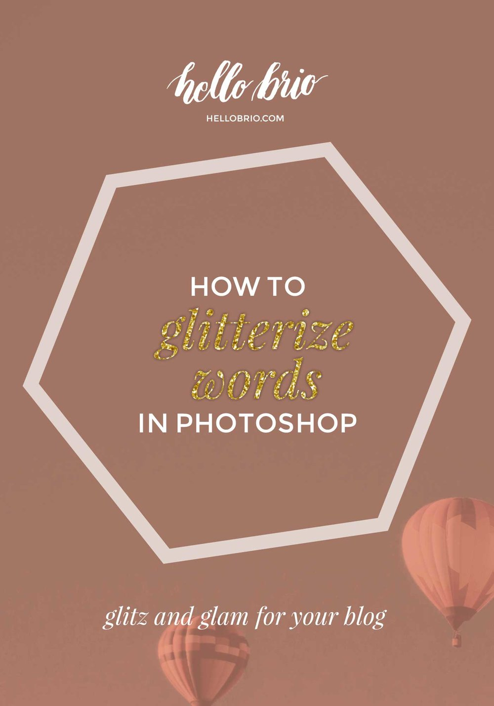 How to make glitter words in Photoshop | Hello Brio tutorials