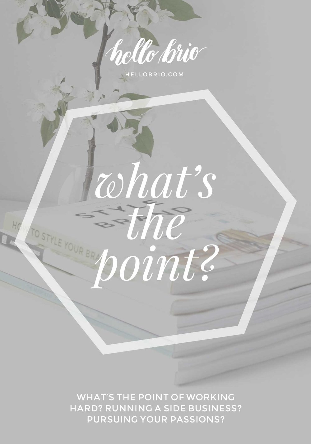 Why do you work as hard as you do? What's the point? | Intentional Living at Hello Brio