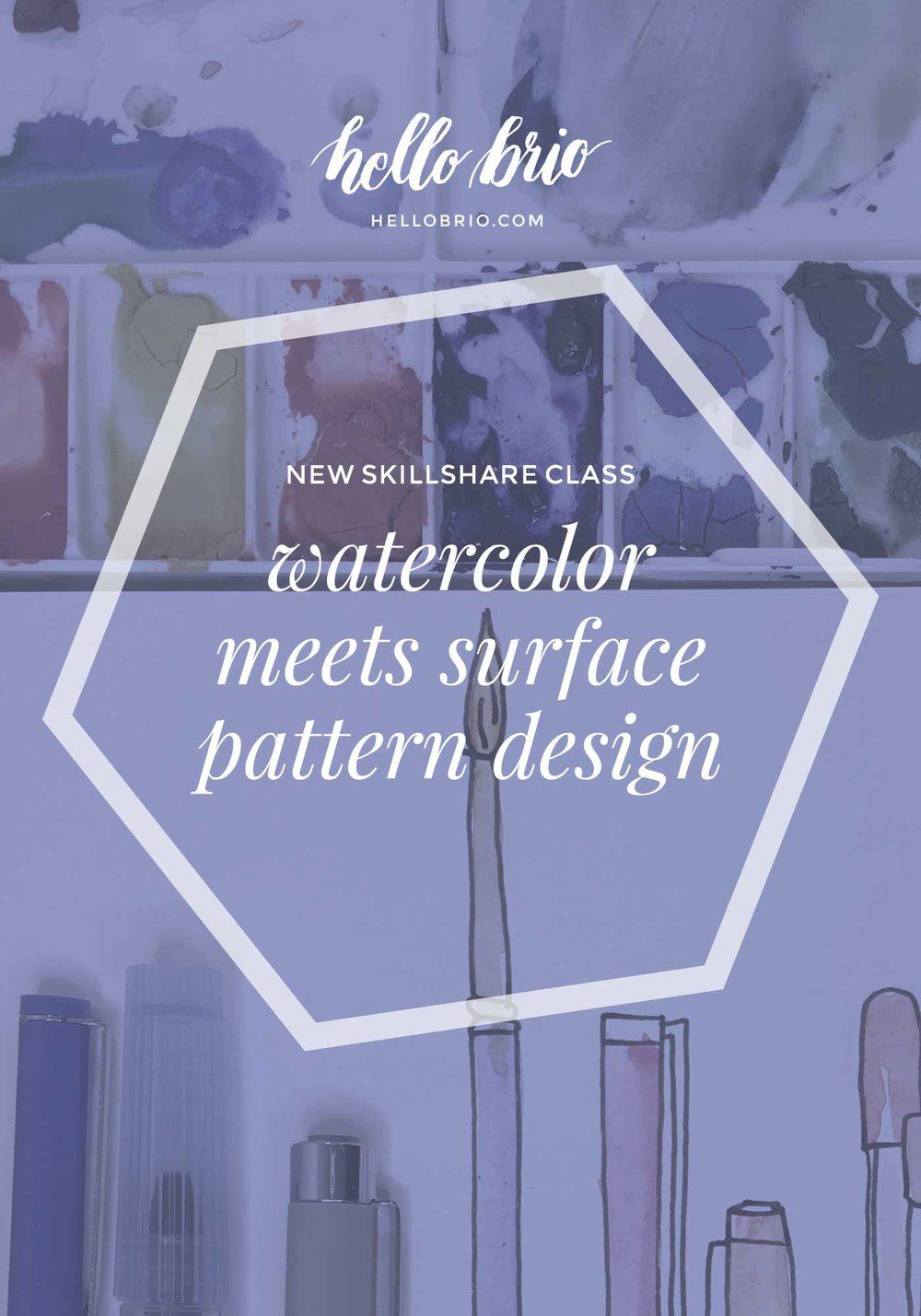 New Skillshare class: Watercolor meets surface pattern design