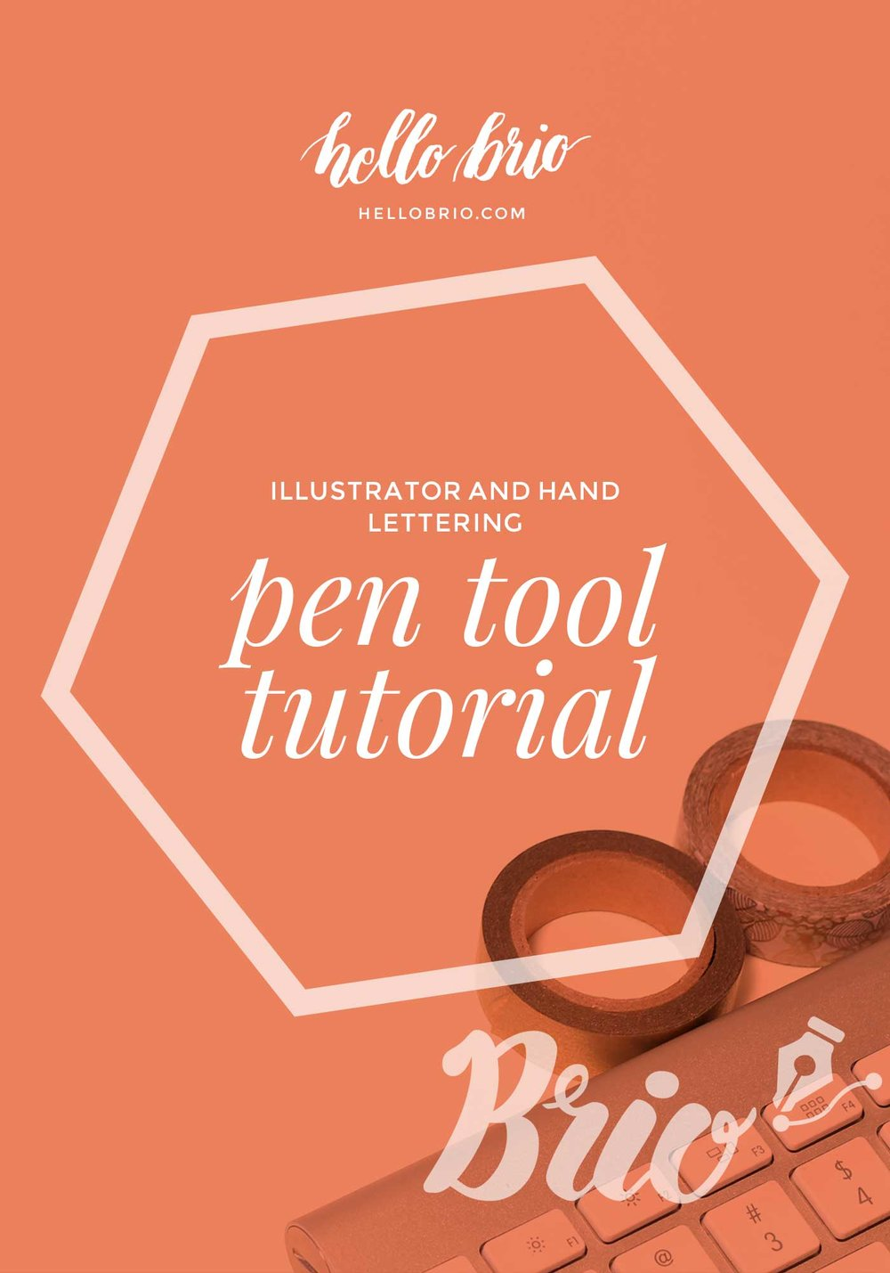 How to use the pen tool in Illustrator to quickly digitize your hand lettering | Hello Brio tutorials