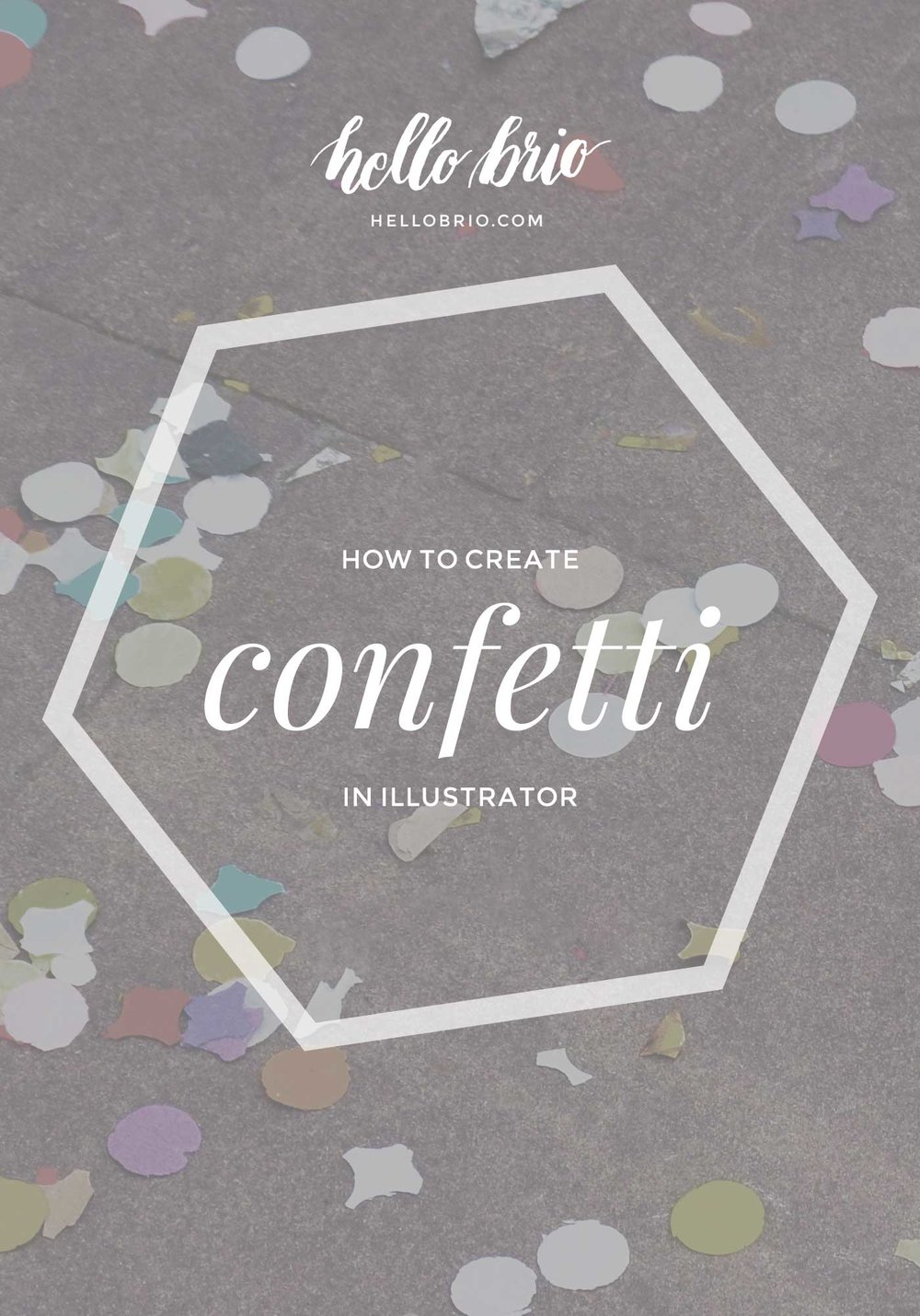 How to create confetti in Adobe Illustrator using the scatter brush tool | Hello Brio tutorials