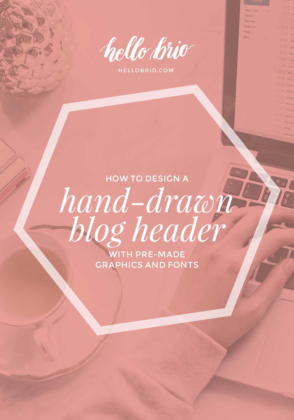 How to design a hand-drawn blog header with premade graphics and fonts