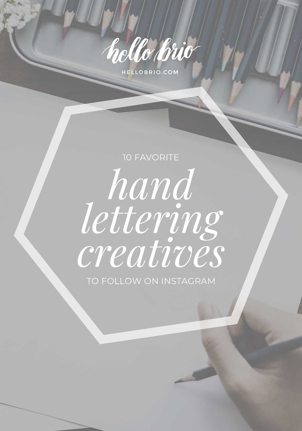 10 favorite hand lettering creatives to follow on Instagram