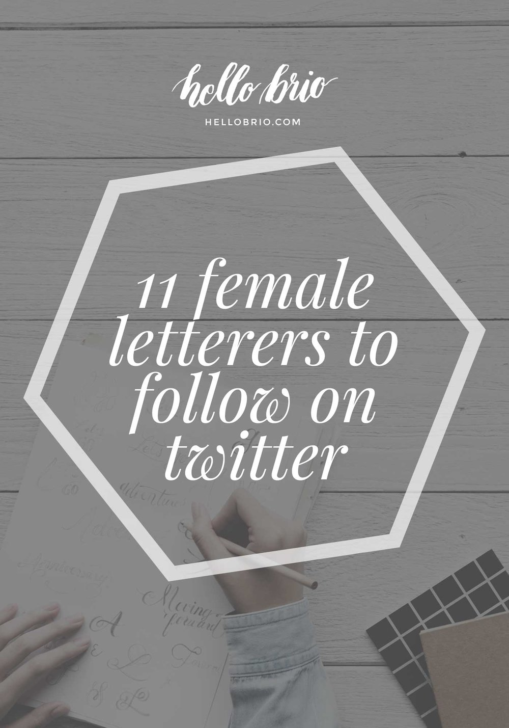 11 female hand letterers to follow on twitter