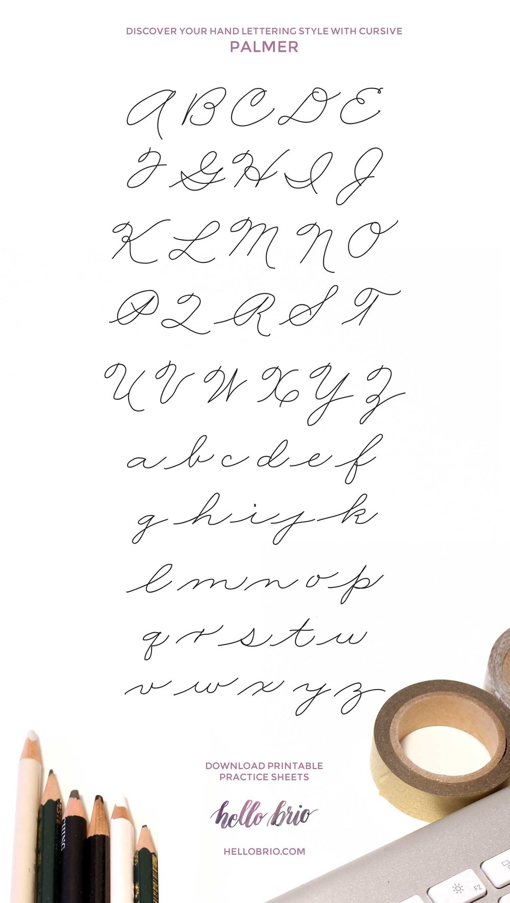 Improve your handwriting and find your hand lettering style with traditional cursive—Palmer Method